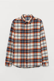 <b>Рубашка</b> из хлопковой <b>фланели</b> - Натуральный белый ...