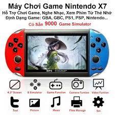 Máy chơi game cầm tay X7 màn hình 4.3 inch-900 game , nghe nhạc , chơi game  , xem phim , đọc sách giá cạnh tranh