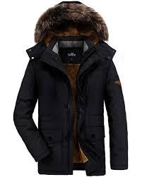 ELETOP Men's <b>Winter Coats</b> Thicken Parka <b>Jacket</b> Faux Fur Lined ...