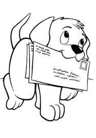 free puppy dog carrying letters to mail printable coloring page it would be fun to print this onto an envelope or make an envelope out of the printed