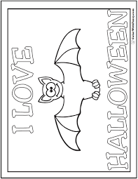 Small Picture Halloween Bats Coloring Pages Printable Coloring Coloring Pages