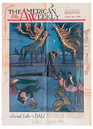 best salvador dali in newspapers and magazines images on vane bor dali and vane bor the american weekly 1938