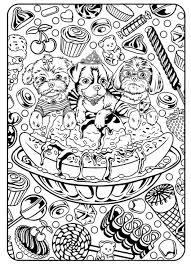 Dessert Kawaii Food Coloring Pages