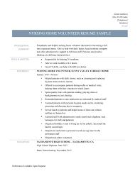 Volunteer Skills For Resume Volunteer Resume Objective Hospital