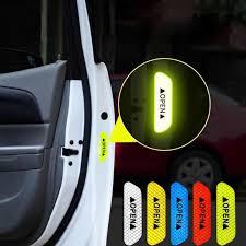 <b>4pcs</b> / <b>set</b> car <b>door</b> stickers <b>DIY open</b> car reflective tape reflective ...