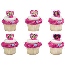 24 Barbie Sweet Sparkles Cupcake Cake Rings Birthday Party Favors
