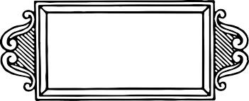 black vintage frame design. 4050x1657 Vintage Frame Border Oh So Nifty Graphics Black Design