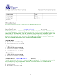 Project Status Meeting Agenda Template 1 Best Agenda Templates