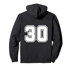 30 30 com Jerseys Hoodie Thirty Number T-shirt No Amazon Clothing Player Sport