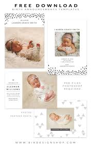 birth announcement templates free birth announcements templates january freebie free stuff