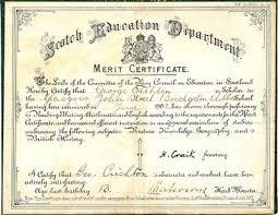 Theglasgowstory Merit Certificate