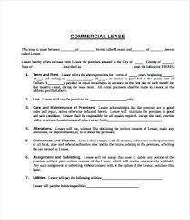 Printable Rental Agreement Template Basic Lease Agreement Template Simple 9 Free Word Documents