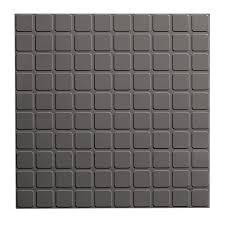 roppe square design 19 69 in x 19 69 in dark gray rubber tile