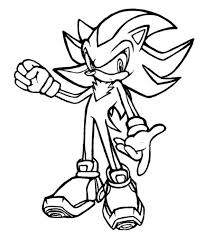 sonic the hedgehog shadow coloring pages