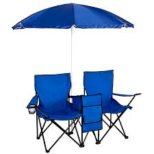 best choice s picnic double folding chair with umbrella table cooler com