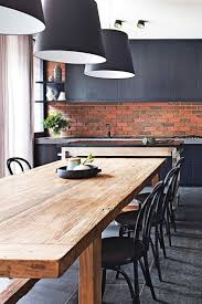 urban loft northern home furniture. Dining-room-kitchen Exposed-brick-black-cabinetry - Interior Design Tips And Home Decoration Trends Decor Ideas Urban Loft Northern Furniture O