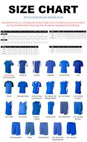 Html Font Size Chart Uniform Size Charts
