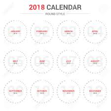 Yearly Calendar Planner Template Yearly Circle Calendar Planner Template For 2018 Royalty Free