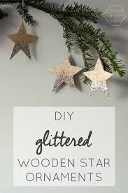 diy glittered wood star ornaments todayscreativeblog net