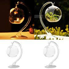 Hanging Glass Tea Light Spheres Set Of 4 Hanging Glass Globe Plant Terrariums Glass Orbs Air Plants Tea Light Candle Holders