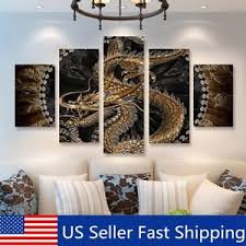 5pcs animal dragon hd canvas print painting pictures home wall decor unframed on 5 panel giant dragon wall art canvas with dragon painting ebay