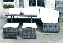 small outdoor sofa corner rattan dining set garden furniture in black or mixed brown couch replacement