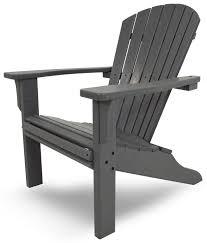 seashell recycled plastic adirondack chair slate grey