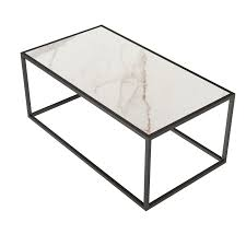 Free shipping on orders over $35. White Marble Rectangular Coffee Table With Black Metal Leg For Living Room Overstock 32819113