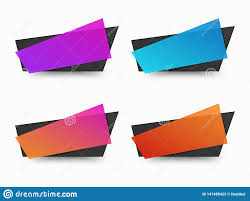 Blank Banner Blank Banner Box Promo Background For Text Stock Vector