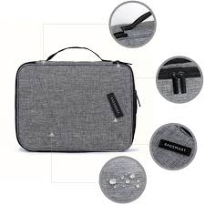 bagsmart double layer travel universal cable organizer cases electronics accessories storage bag for 10 5 bagsmart double layer travel universal cable