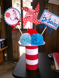 Dr Seuss Party Decorations Dr Seuss Table Decorations Dr Seussu0027s Cat In The Hat Birthday