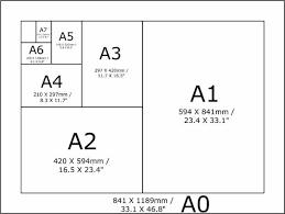 Paper Size Chart 11x17