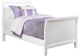Ivy League White 3 Pc Twin Sleigh Bed Beds White