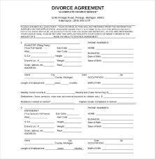 40 Divorce Agreement Templates Free Sample Example Format Cool Divorce Notice Format