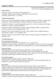 Resume Template Curriculum Vitae Examples Graduate Students