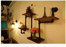 Country Style Wrought Iron Shelf Wall Shelves Wall Shelving Wood Country Style Shelves