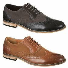 details about mens faux leather shoes italian smart formal wedding office party brogue shoes