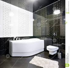 Black And White Bathroom Black And White Bathroom Interior Stock Photos Image 10751153