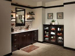 Dark Cabinet Bathroom Upmarket Wood Bathroom Cabinet Ideas With Stunning White Marble