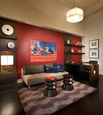 glorious simple home office interior. Glorious Simple Home Office Interior. View In Gallery Red Accent Wall The Contemporary Interior