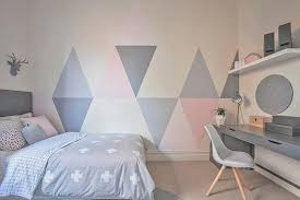 Bedroom ideas for young adults girls Pinterest If Youre Looking For Unique Girls Bedroom Ideas Consider Painting Triangles Onto The Walls These Light Gray And Pink Triangles Add An Understated Shutterfly 75 Delightful Girls Bedroom Ideas Shutterfly