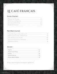 Unique French Menu Template Word Easy Templates Free Home