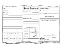 Book Review Template Middle School Form Report Best Templates Images ...
