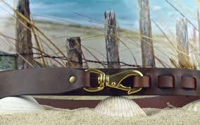 swivel snap hook leather belt