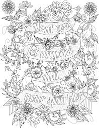 Colouring pages including proverbs, sayings, famous quotes and more… color your stress away and keep the inspiration going. Pin On C