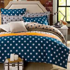 whole new arrival 100 cotton blue stars bedding set with duvet cover pillow case cotton fabric bed linen queen size camo bedding bohemian bedding from