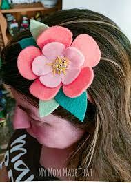make a moana felt flower headband using freezer paper and your cricut cutting machine you