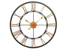 libra large metal skeletal wall clock