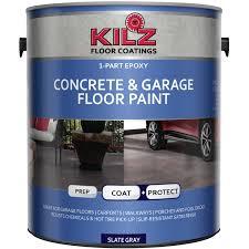 exterior quality concrete floor paint. kilz 1-part epoxy acrylic interior/exterior concrete and garage floor paint, satin exterior quality paint i