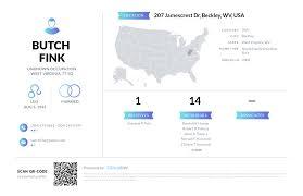 Butch Fink, (304) 255-6390, 207 Jamescrest Dr, Beckley, WV   Nuwber